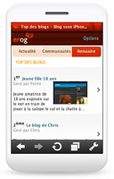 Overblog version mobile